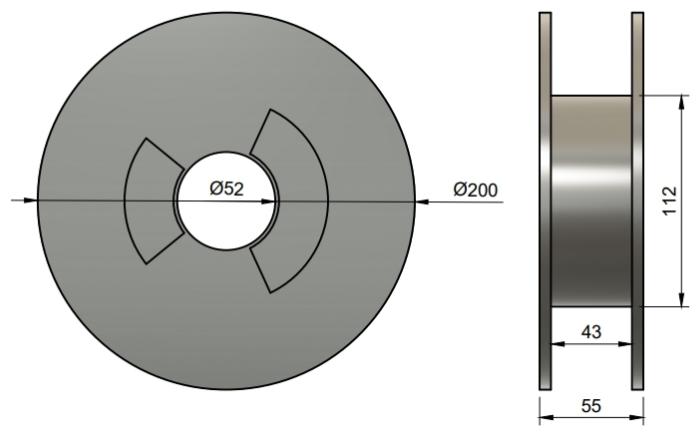 Filament Plasty Mladeč - Rozměr cívky