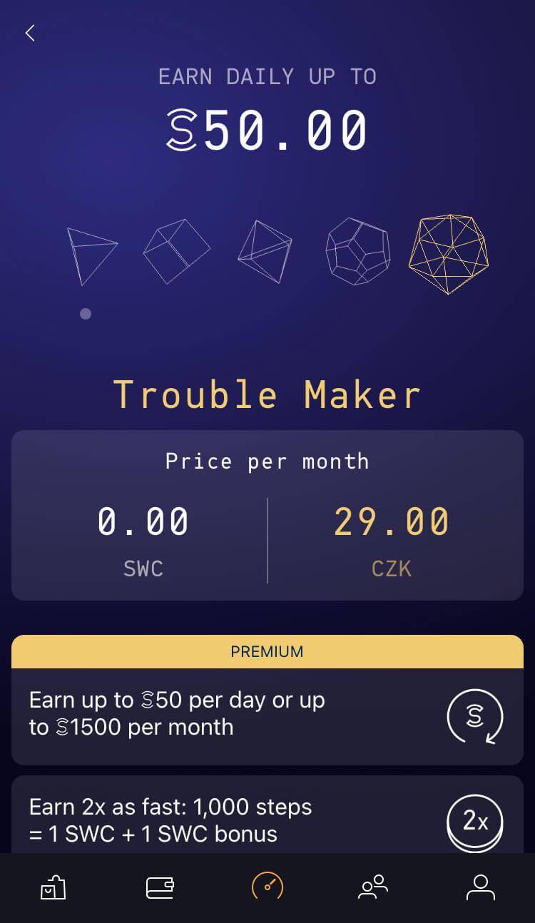 Sweatcoin - Plán - Trouble Maker