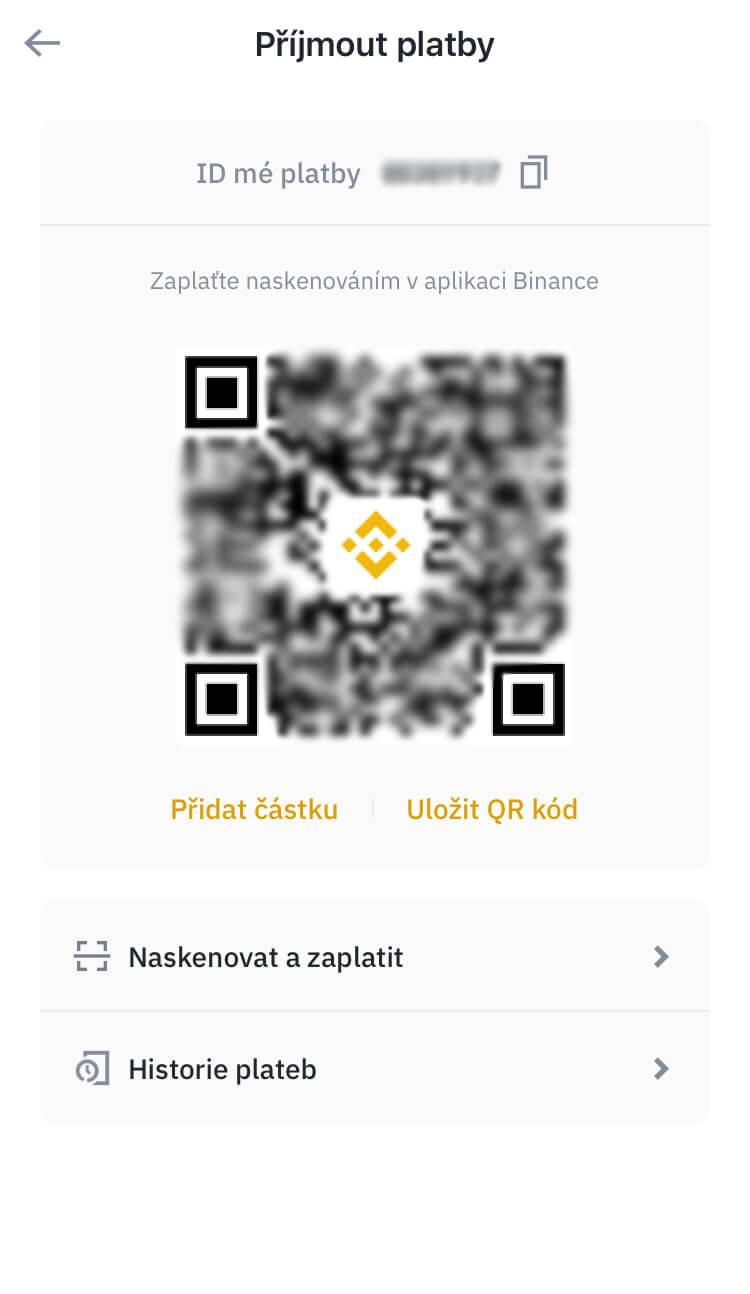 Binance Pay - Přijmout platby