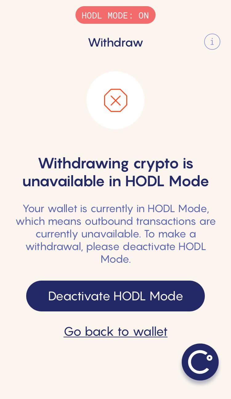 Celsius Network - HODL MODE: Deactivation