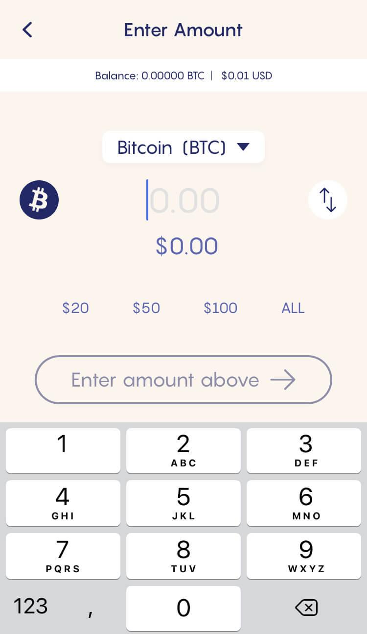 Celsius Network - Cel Pay - Send BTC